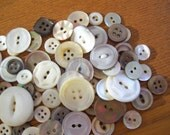 Lot Vintage Mother of Pearl MOP Buttons Gray and White