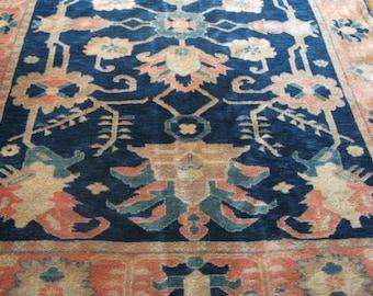 Fabulous Vintage Turkish Caucasian Wool Rug 8 x 5.9 ft. Excellent condition