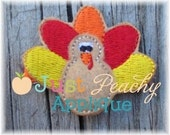Turkey Clippy Applique Machine Embroidery Design Buy 5 for 8! Use Coupon Code SUMMERFUN