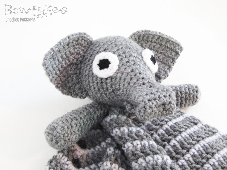 Elephant Lovey CROCHET PATTERN instant download blankey - photo#43