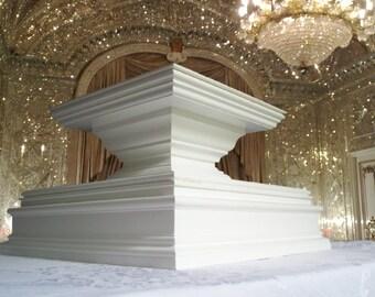 Grand Classic Luxury Wedding Cake Stand Tall Square Pedestal Elegant Wedding Decor Large Cake