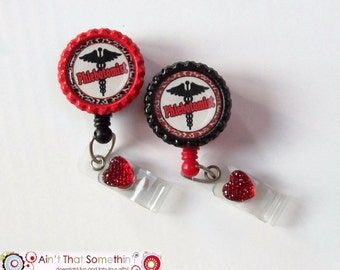 Phlebotomist Retractable Badge Reel - Phlebotomist Badge Clip - Hospital Badge Reels - Phlebotomist Gifts - Gifts Under 10 - Cute ID Pulls