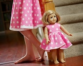 American Girl 18 inch Doll dress and matching girl skirt - Popping Pink