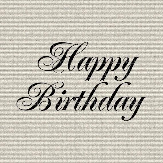 Happy Birthday Script Wall Decor Art Typography By