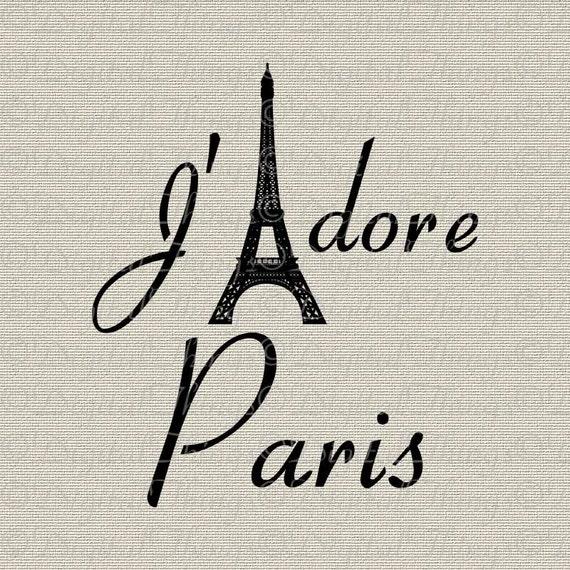 Eiffel Tower Jadore I Love Paris French Decor Wall Decor Art