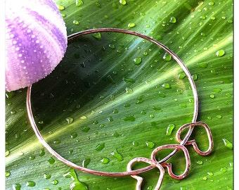 Heart Charm Bangle- beach bangles, beach jewelry, aloha, hawaii, kauai