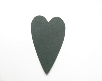 Confetti - 50 CARDBOARD hearts - Black - Wedding - Baby shower - Flavors - Autunno - Decoration