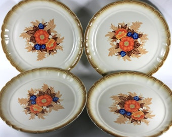 Manor House Medley Vintage Plates, Made In Japan, Vintage Ceramic, Floral Design, Dinnerware, Servingware