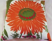 Sunny Day: Vintage Fabric Pillow