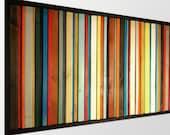 Fiesta - Modern Wood Wall Art - SALE Reg 595.00 - Reclaimed Wood Art - Abstract Wood Art in Red, Orange, Greens, Blues, and Yellows