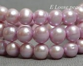Round Potato pearl Freshwater Pearls Purple Pink Loose Pearl Beads 7.5-8.5mm 46pcs Full Strand Item No : PL2177