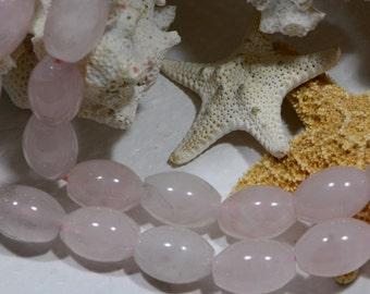 Rose Quartz Beads 14x10mm Natural Gemstone Beads Jewelry Making Supplies