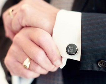 Cufflinks for the Father of the bride - high quality heirloom gift cuff links handcrafted in the USA for dad- accessories for men with class