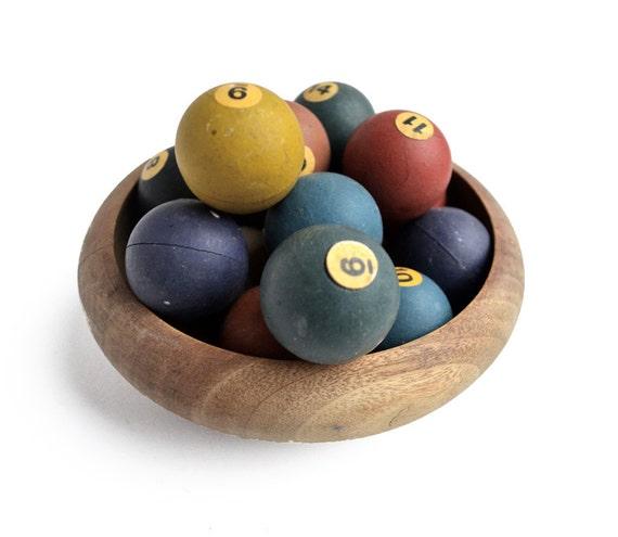 mini billiard or pool balls set of 15  from Elizabeth Rosen