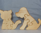 Kitty Cat and Dog Puzzles