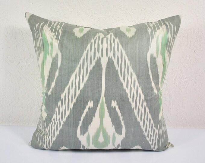 """Ikat Pillow, Slow Tide 20"""" Ikat Pillow Cover - PA514-1AA3. Ikat throw pillows, Designer pillows, Decorative pillows, Accent pillows"""