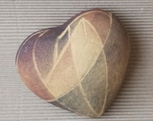 Ceramic modern  heart, decorated in geometric stile. Valentines Day. Wedding table decor.