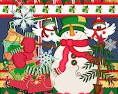 Christmas scrapbook, Snowman scrapbook, Instant download, Winter scrapbook, digital scrapbook