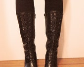 Witchy Lace-Up Boots - Black 8.5