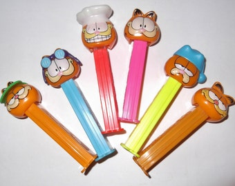 Vintage Pez Dispenser Garfield Pez Candy Dispensers 1978 Set Of Six