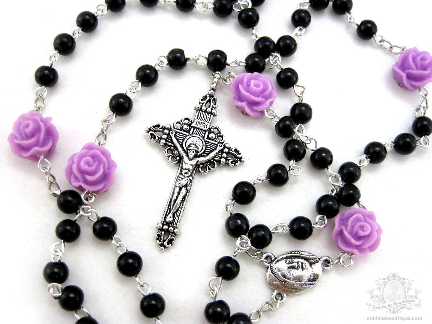 handmade rosaries from roses black rosary necklace