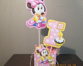Baby Minnie's 1st Birthday Centerpiece-DIY Kit