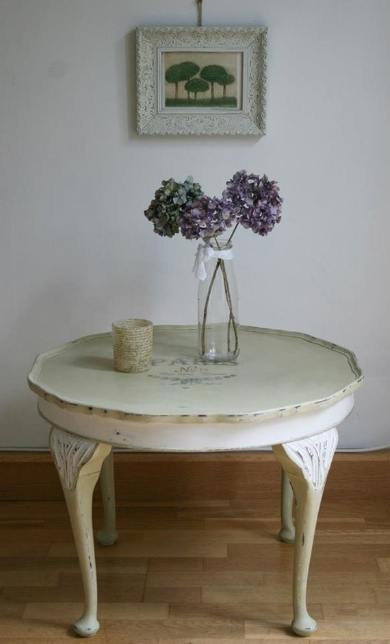 French Cottage Shabby Chic Farmhouse Coffee Table Annie Sloan Chalk Paint