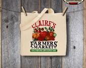 Farmers' Market Party - Garden Birthday Shower - Iron On Transfer - Printable (Canvas Shopping Tote Bag, Shirt, Farm Fresh, Seed Packet)