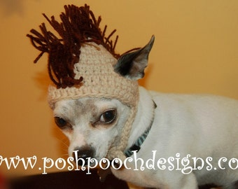 Mohawk Custom Dog Hat small Dogs 2-15 lbs - Small Dog Beanie