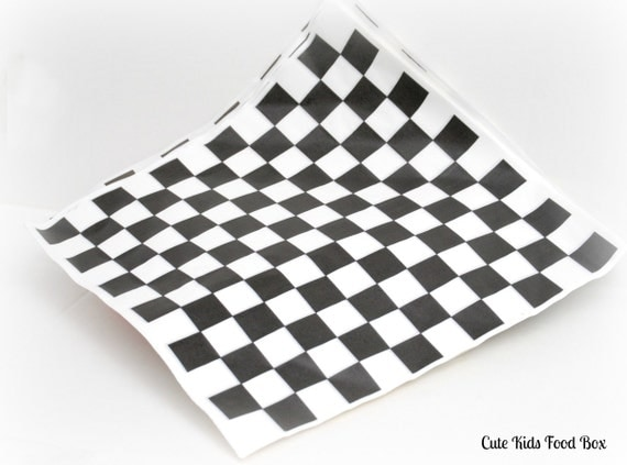 Checkered Wax Paper Bold Checker Food Paper