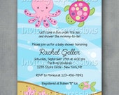 Under the Sea Pink Baby Shower Invitation Printable - Girl Baby Shower Invitations
