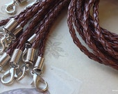 42 cm Brown Suede Faux Leather String, Braid Faux Leather Suede Cord with Clasps and Rings (.gm)