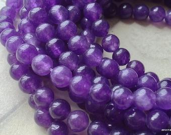 6 mm Pastel Round Dark Purple Flower Jade Gem Stones (.mnu)(.gz)
