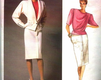 1986 EMANUEL UNGARO for VOGUE Designer Paris Original Pattern 1766  Misses Sz 10  Uncut Factory Folded oop