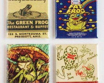 Green Frog Fridge Magnet Set