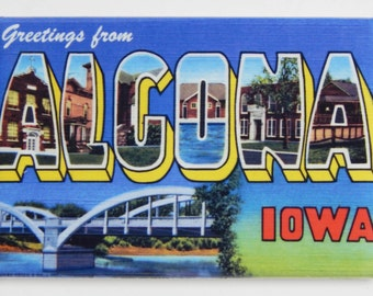 Greetings from Alcona Fridge Magnet