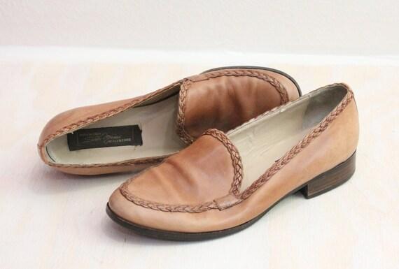 Vintage Caramel Sesto Meucci Italian Leather Loafers Sz 7