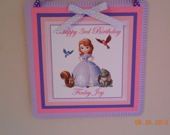 Sofia The First Door Sign Sofia The First Wall Hanging Sofia The First Sign