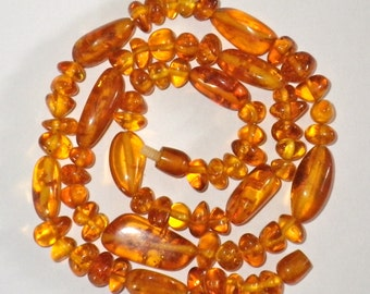 "Vintage Honey Amber 22"" Necklace"