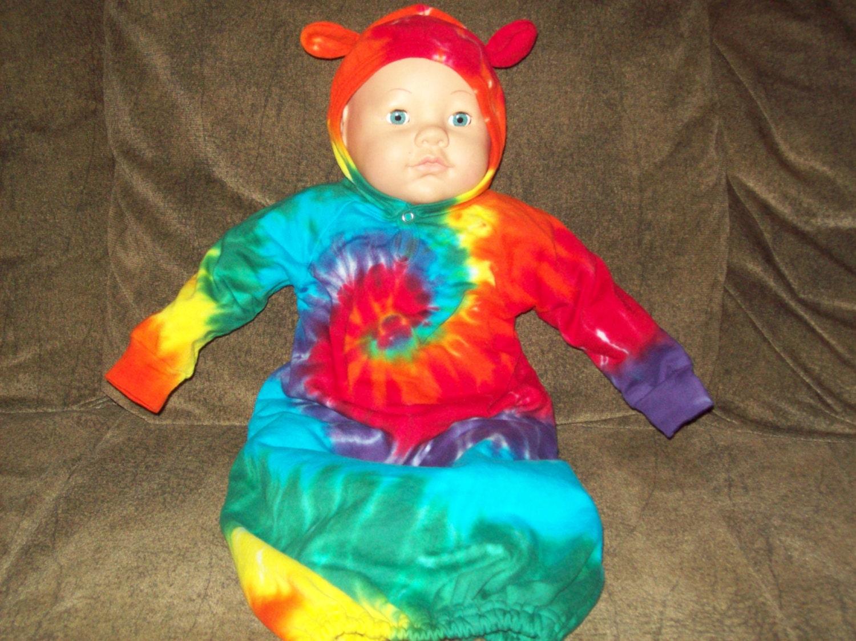 Tie Dye Baby Teddy Bear Bunting Rainbow By Ejsgroovytuesdays