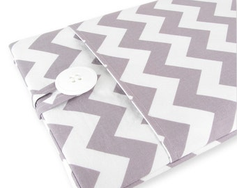 MacBook Air Case, MacBook Air Sleeve, MacBook Air 13 Case, MacBook Air 13 Sleeve, 13 Inch MacBook Air Sleeve - White Gray Chevron