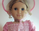 Pink Eyelet Dress for American Girl Doll Caroline