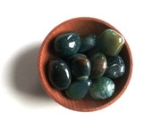 10 MOSS AGATE CRYSTALS --- stones--- crystal grid supplies