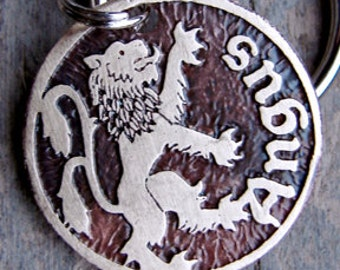 Dog Tag, Pet Tag, Lion Rampant Custom Pet ID Tag for Dogs or Cats