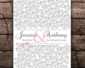 Keepsake Autograph Poster | 20x30 Engagement or Bridal Gift | PERSONALIZED WEDDING GIFT | Personalized Guest Book Wedding Poster sign in_02