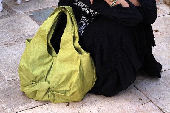 Slouchy Hobo handbag / Twisted Tote bag / LunaBagDesigns