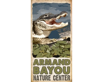 Armand Bayou Alligator Poster