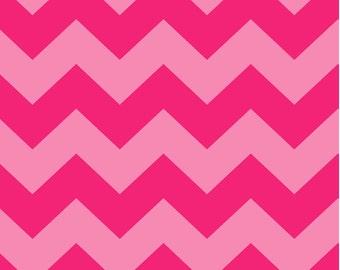 LAST YARD - SALE - David Textiles - Tonal Pink Chevron