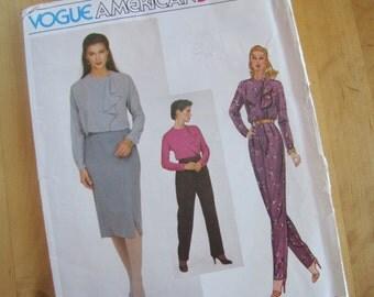 Uncut Vintage Vogue Sewing Pattern 2370 - Anne Klein - Misses Blouse, Skirt and Pants -  Size 12