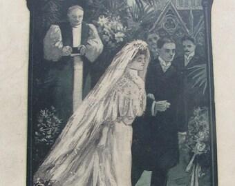 1907 Mendelssohns WEDDING MARCH Sheet Music REPURPOSE